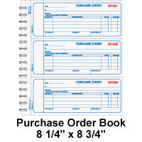 Piographic Purchase order book sample